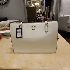 Dkny l white TOTE bag  leather